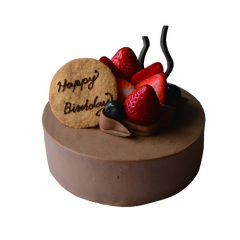 苺サンドの生チョコクリームバースデーケーキ
